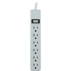 JASCO 6-Outlet Patterned Power Strip, 4ft Cord 26601