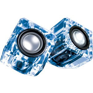 Ice Crystal Clear Compact Speakers (Blue)