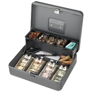 STEELMASTER Tiered Tray Cash Box 2216194G2