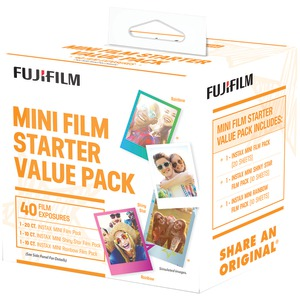 FUJIFILM Instax(R) Mini Film Pack (Starter Value Pack) 600017191