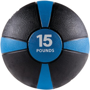 GOFIT Medicine Ball (15 lbs; Black & Blue) GF-MB15