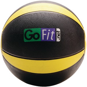 GOFIT Medicine Ball (10lbs; Black & Yellow) GF-MB10