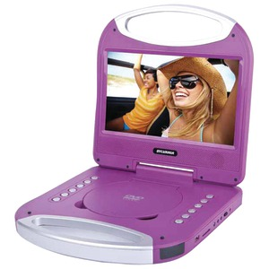 SYLVANIA 10 inch. Portable DVD Player with Integrated Handle (Purple) SDVD1052-PURPLE