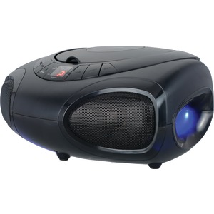 Bluetooth(R) Portable CD Boom Box with LED Light