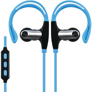 SUPERSONIC Sweatproof Bluetooth(R) Sport Earbuds with Microphone (Blue) IQ-131BT-BLUE