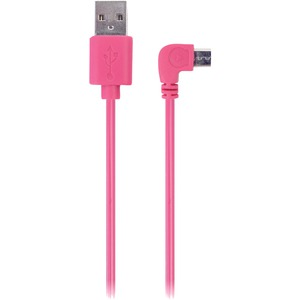 IESSENTIALS 90? Micro-USB Cable, 3.5ft (Pink) IE-90DMICRO-PK