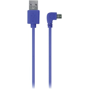 IESSENTIALS 90? Micro-USB Cable, 3.5ft (Blue) IE-90DMICRO-BL