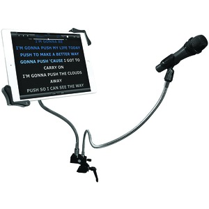 CTA DIGITAL Microphone Clip & Tablet Holder Gooseneck Clamp Stand PAD-MTG