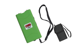 WJ 3500K Green RECHARGABLE STUN GUN WITH LIGHT& SAFETY PIN M-ES-800-GN