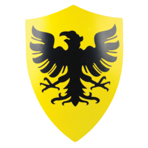 WJ 25 inches X 18 inches Yellow & Black German Eagle Metal Shield M-S-4004