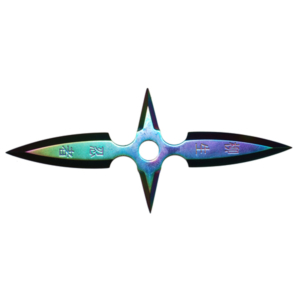 WJ Rainbow Throwing Star ST1462-1-RW