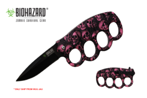 Biohazard 8.75 inches Spring Assisted Trench Knife YC-S-1819-SPK