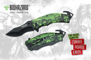 Biohazard 8 inches Tony Moores Signature Zombie Horde Rescue Knife YC-S-8381-GN