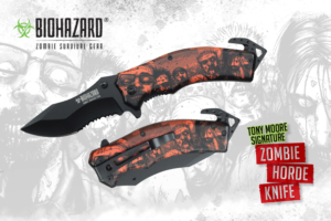 Biohazard 8 inches Tony Moore's Signature Zombie Horde Rescue Knife YC-S-8381-YL