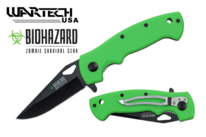 Biohazard 7 5-8 inches Spring Assisted Pocket Knife YC-S-9501-GN