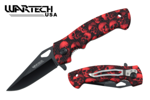 Wartech 7 5-8 inches Spring Assisted Pocket Knife YC-S-9501-SRD