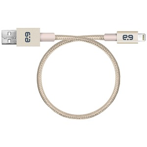PURE GEAR 9 inch. Lightning(TM) to USB Metallic Round Braided Rope Cable (Gold) 99550VRP