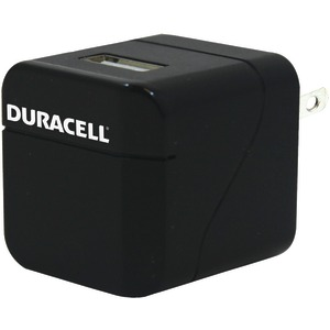 DURACELL 1-Port USB AC Wall Charger (Black) PRO158