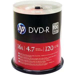 HP 4.7GB DVD-Rs 100-ct Spindle DM16100CB