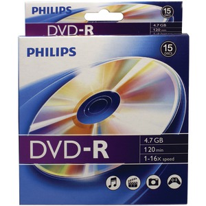 PHILIPS 4.7GB 16x DVD-Rs 10-ct Peggable Box DM4S6B10B/17