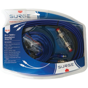 SURGE Installer Series Amp Installation Kit (8 Gauge 1000 Watts) SI-8