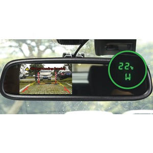BOYO 4.3 inch. OE-Style Rearview Mirror Monitor with Temperature & Compass VTM43TC