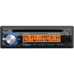 DUAL Single-DIN In-Dash AM-FM-MP3 CD Receiver with Bluetooth(R) DC416BT
