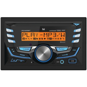 DUAL Double-DIN In-Dash AM-FM-MP3 CD Receiver with Bluetooth(R) DC426BT