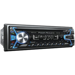 Single-DIN In-Dash CD-MP3 AM-FM Receiver with USB Playback (With Bluetooth(R))