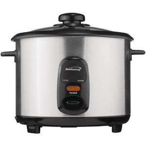 BRENTWOOD 5-Cup Stainless Steel Rice Cooker TS-10