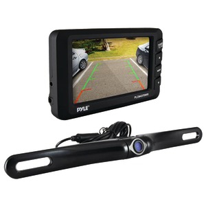 PYLE 4.3 inch. LCD Monitor & Wireless Rearview Backup Camera with Parking-Reverse Assist System PLCM4375WIR