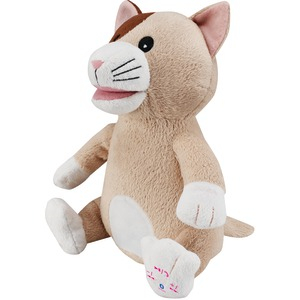 Animated Plush Animal Bluetooth(R) Speaker (Cat)