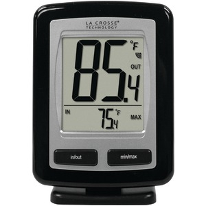 LA CROSSE TECHNOLOGY Black Wireless Temperature Station WS-9009BK-IT-CBP
