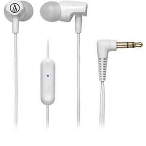 AUDIO TECHNICA SonicFuel(R) In-Ear Headphones with Microphone (White) ATH-CLR100ISWH