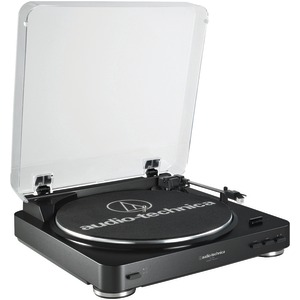 AUDIO TECHNICA Fully Automatic Belt-Drive Stereo Turntable (Black) AT-LP60BK
