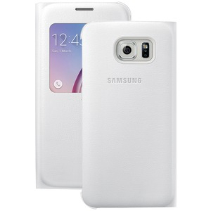 SAMSUNG S-View Flip Cover for Samsung(R) Galaxy S(R) 6 (White Pearl) 34-2886-05-XP