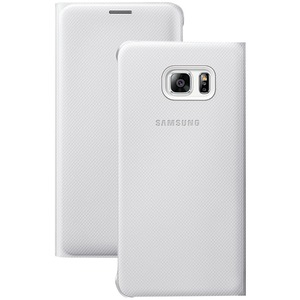 Wallet Flip Cover for Samsung(R) Galaxy S(R) 6 edge+ (White)