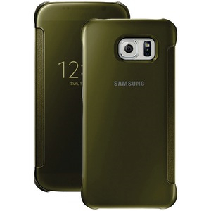 SAMSUNG S-View Flip Cover for Samsung(R) Galaxy S(R) 6 (Clear-Gold) 34-2888-05-XP