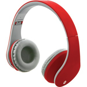 Bluetooth(R) Headphones with Auxiliary Input (Matte Red)