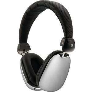 Bluetooth(R) Headphones with Auxiliary Input (Silver)