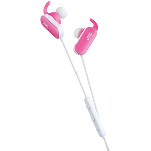 Bluetooth(R) Exercise Headphones with Microphone (Pink)