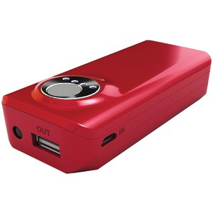4000mAh 2.1A Red Power Bank