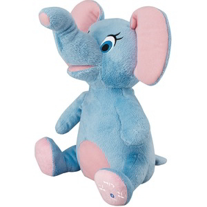 Animated Plush Animal Bluetooth(R) Speaker (Elephant)