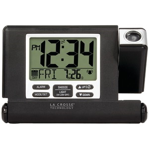 LA CROSSE TECHNOLOGY Travel Projection Alarm Clock 616-1908-INT