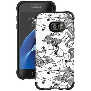 Samsung(R) Galaxy S(R) 7 Edge Urbanite(TM) Select Case (Black Textured TPU with Tiger Lily Pattern)