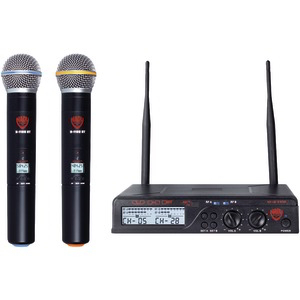 NADY Dual UHF Wireless Handheld Microphone System U-2100 HT BAND A/B