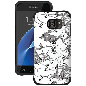 Samsung(R) Galaxy S(R) 7 Urbanite(TM) Select Case (Black Textured TPU with Tiger Lily Pattern)