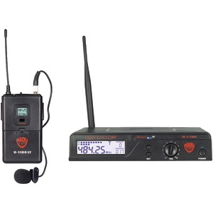 NADY UHF 100-Channel Wireless Lavalier Handheld Microphone System U-1100 LT/O/A