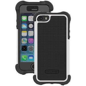 iPhone(R) 5-5S-SE Tough Jacket Maxx(TM) Case with Black Holster (Black-White)