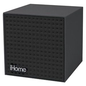 IHM Rubberized Bluetooth(R) Mini Speaker Cube with Rechargeable Battery (Black Finish) IBT16BBC